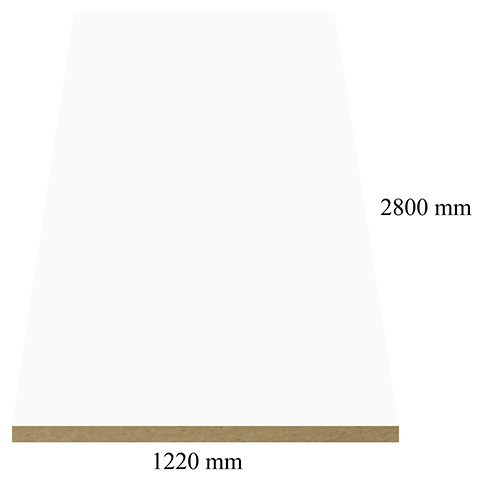 141 White high gloss - PVC coated 18 mm MDF