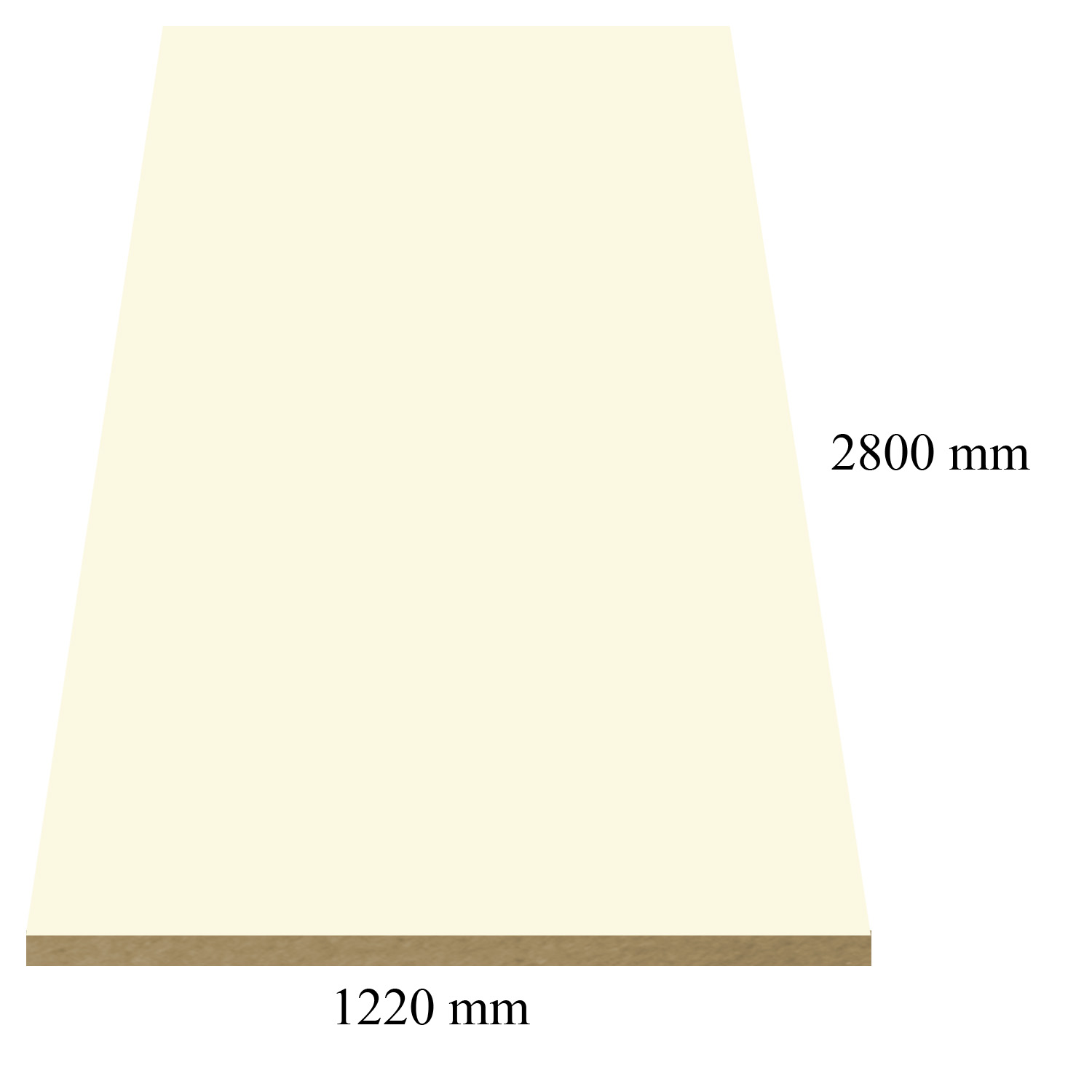 301 /746 Cream super matte - PVC coated 18 mm MDF
