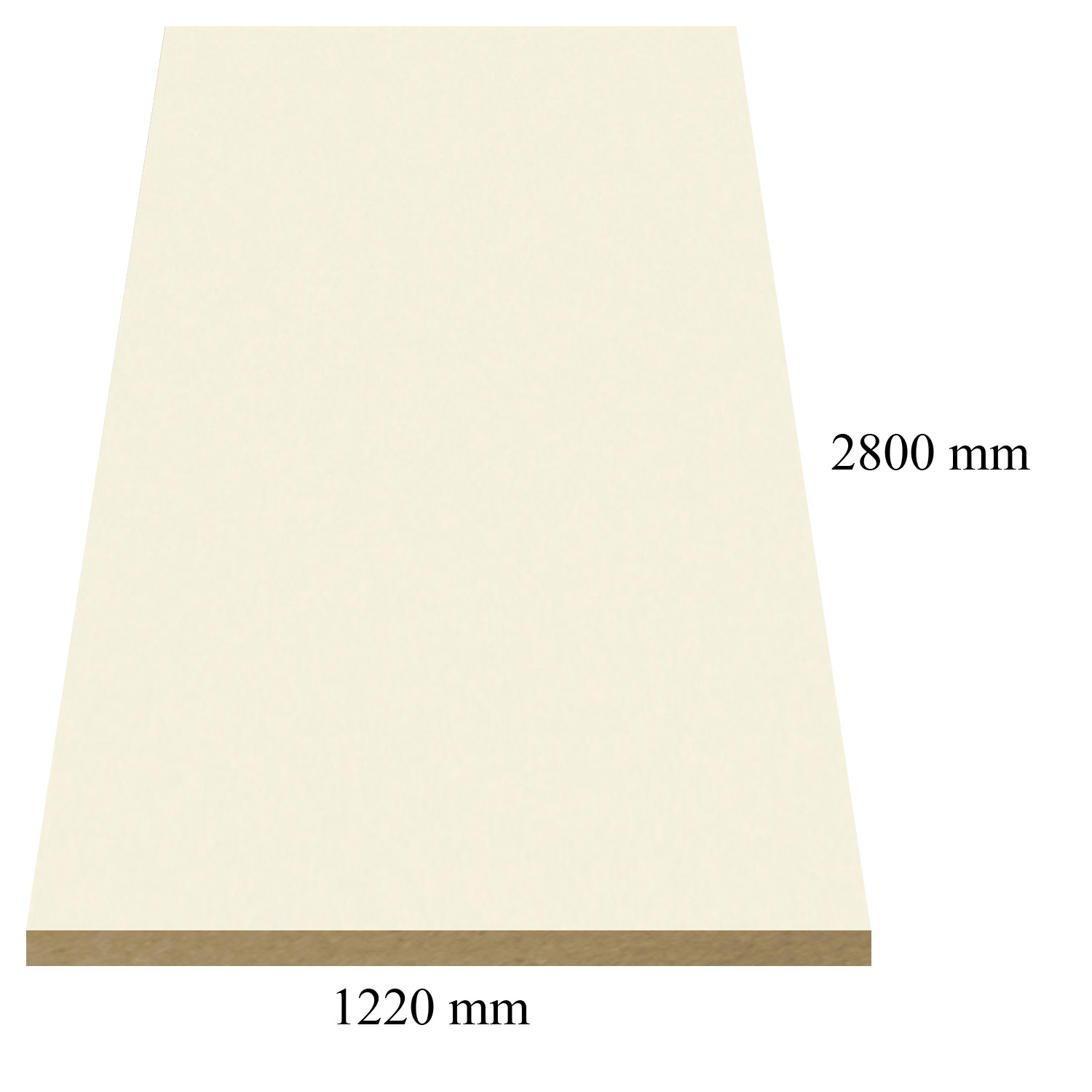 845 Bianco high gloss - PVC coated 18 mm MDF