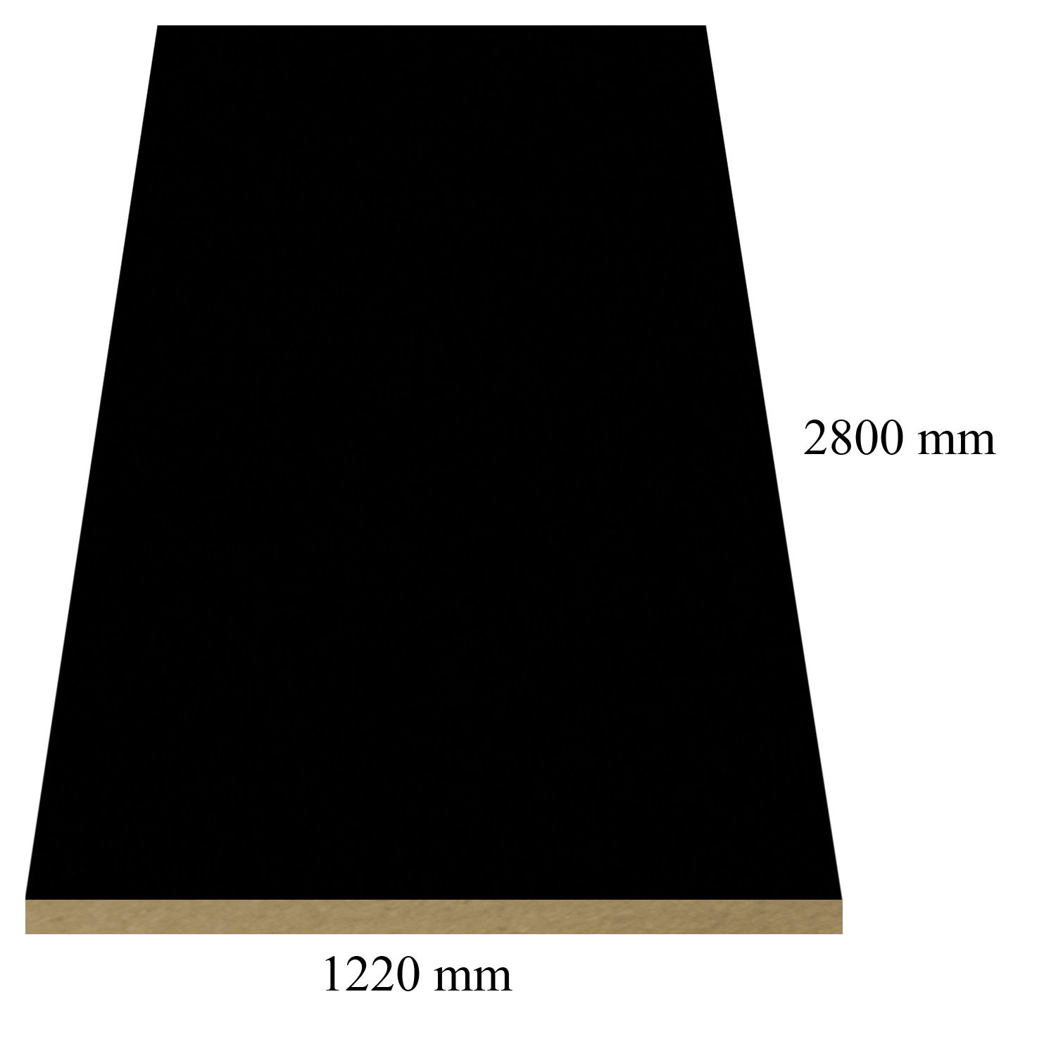 168 Black high gloss - PVC coated 18 mm MDF