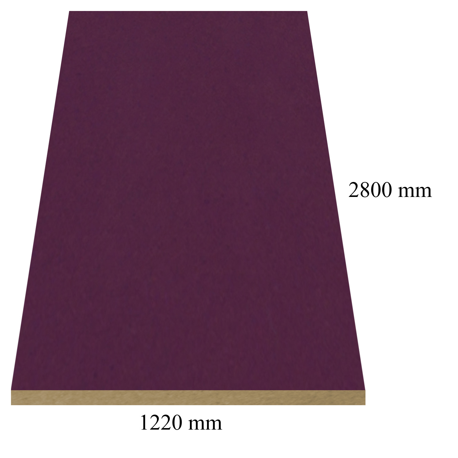 428 Dark Damson high gloss - PVC coated 18 mm MDF