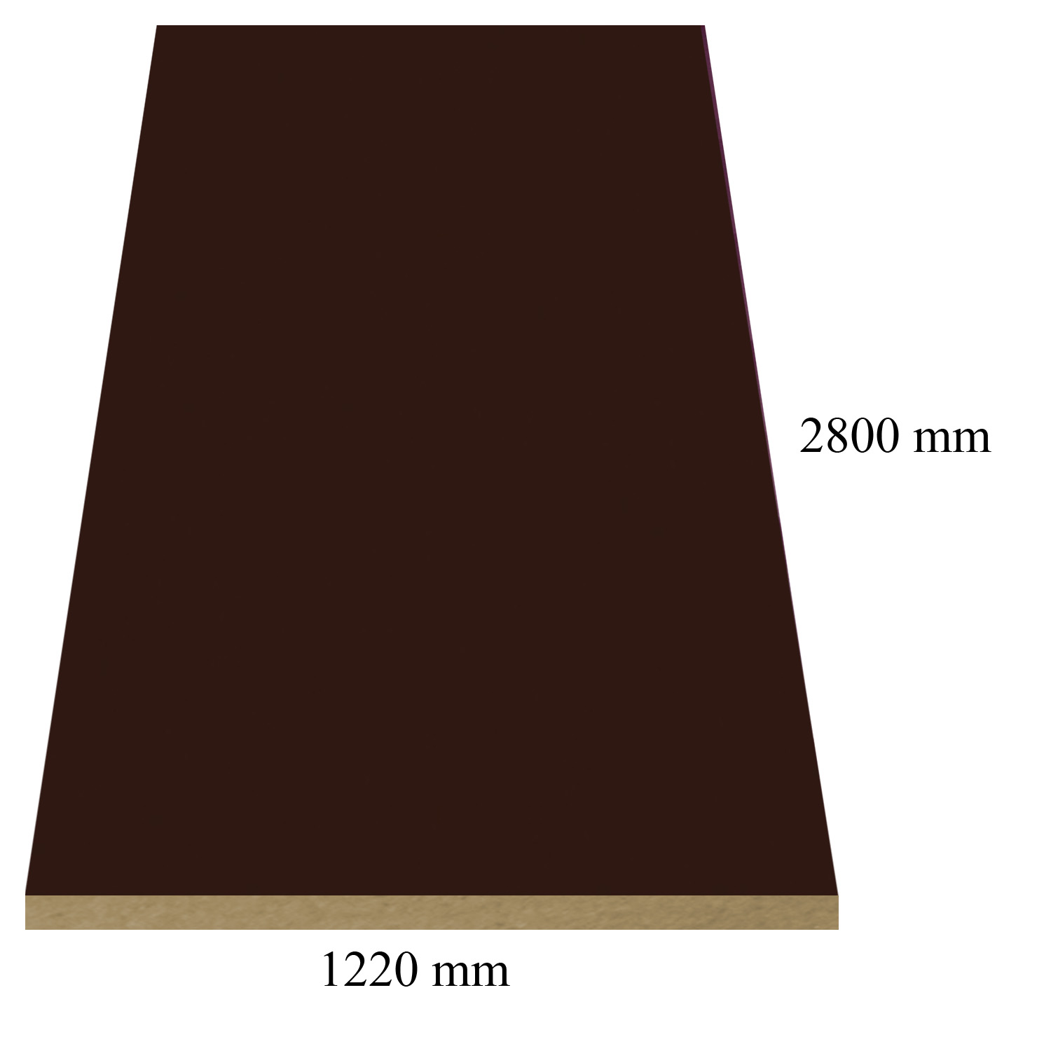 149 Brown high gloss - PVC coated 18 mm MDF