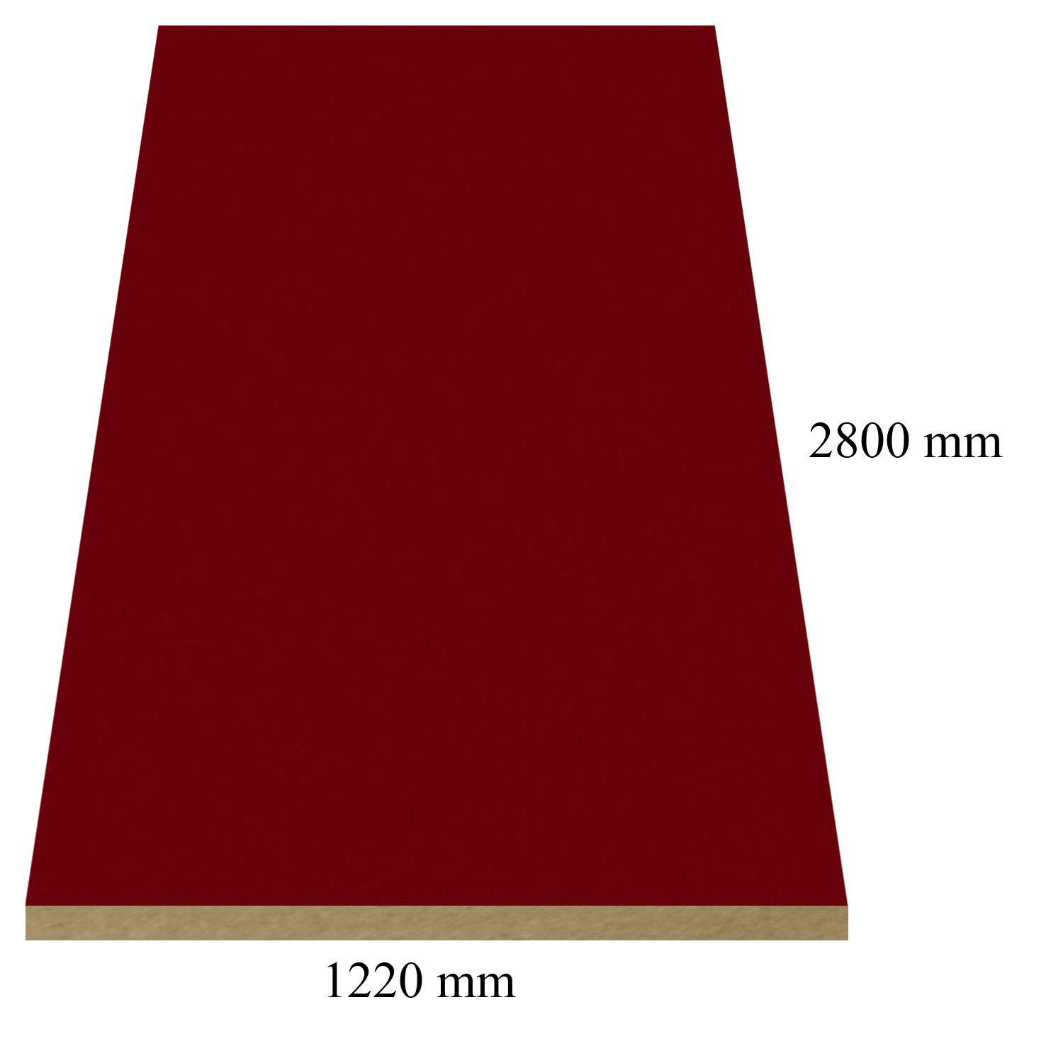146 Bordeaux high gloss - PVC coated 18 mm MDF