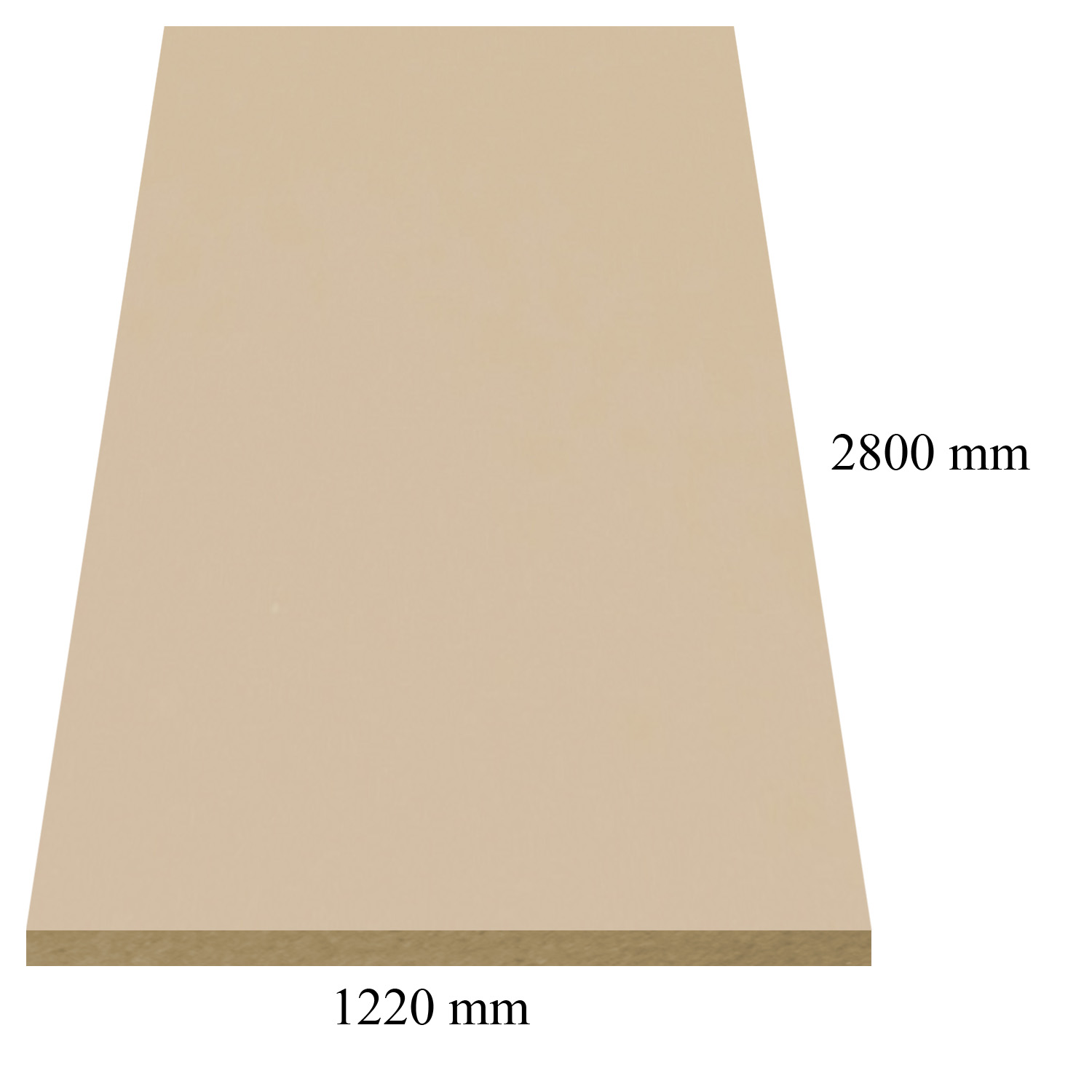 148 Cappucino high gloss - PVC coated 18 mm MDF