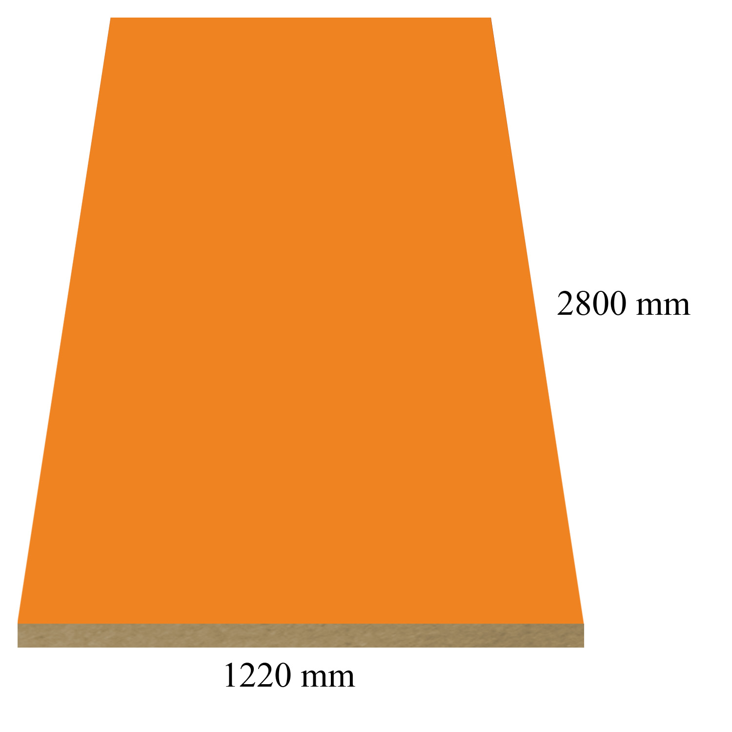 164 Pastel Orange high gloss - PVC coated 18 mm MDF