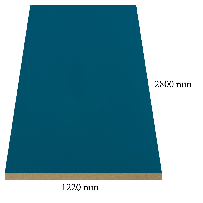 2 - 683 Петролено Синьо - 18 мм плоча мдф гланц