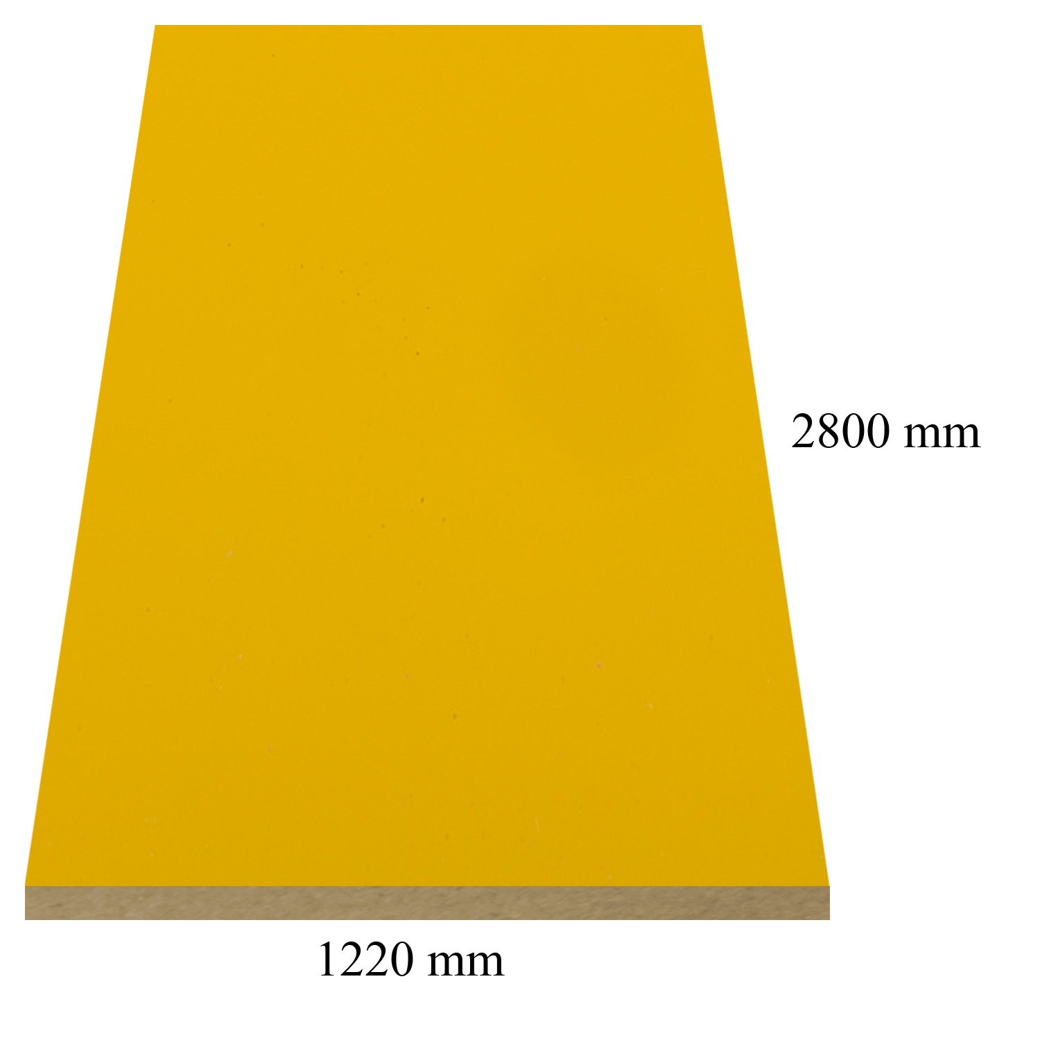 681 Yellow high gloss - PVC coated 18 mm MDF