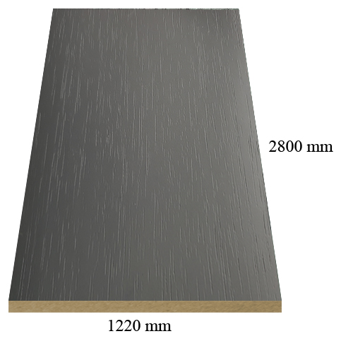 1418 matte Lake Grey - PVC coated 18 mm MDF