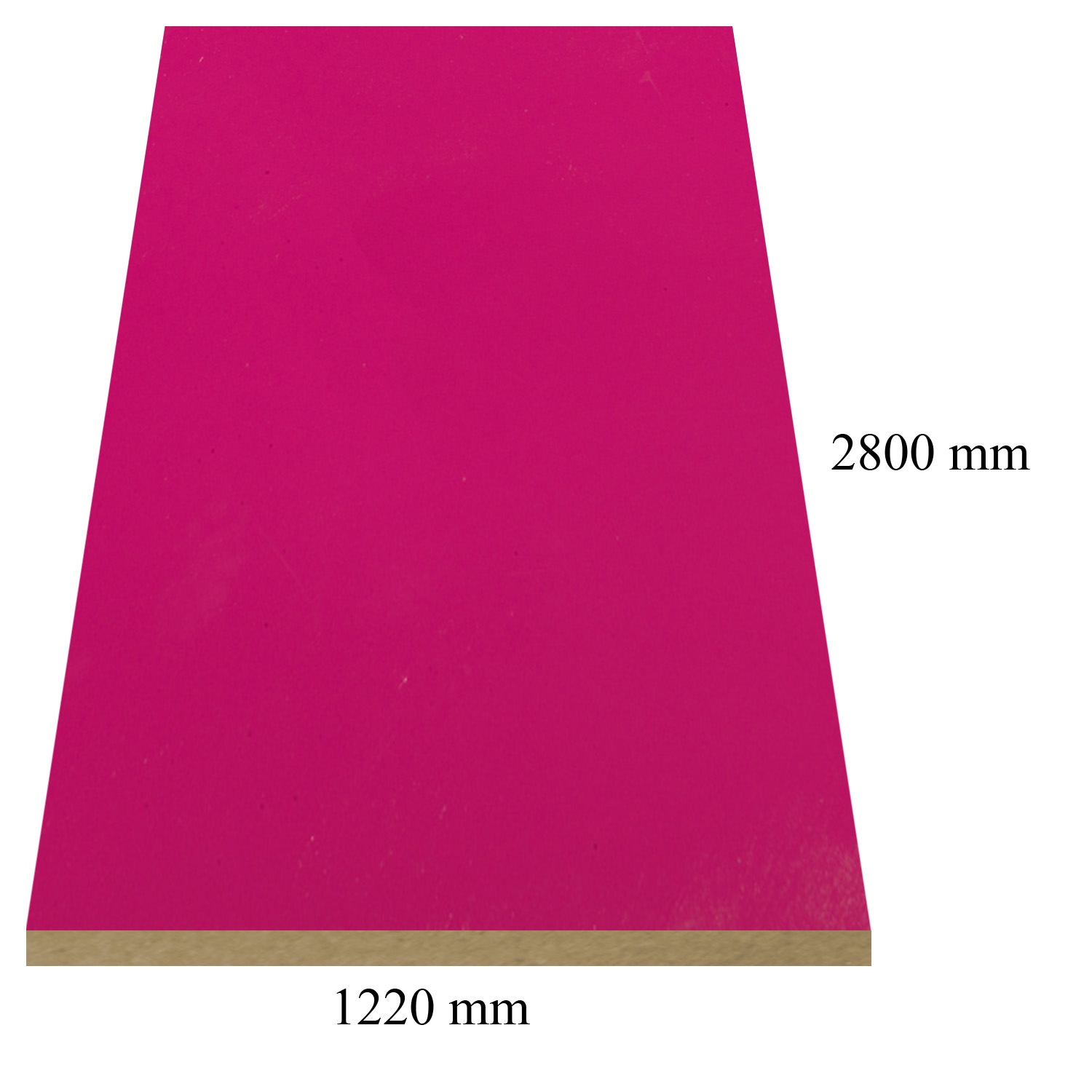 680 Fuxia high gloss - PVC coated 18 mm MDF
