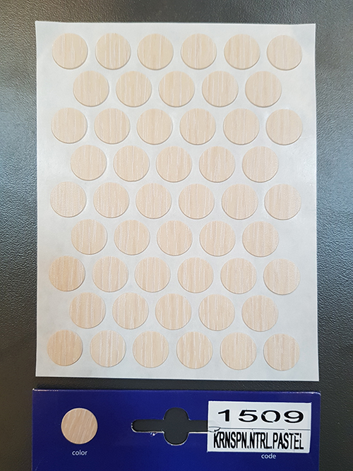 1509 Pastel oak – Self adhesive covers ø14 mm