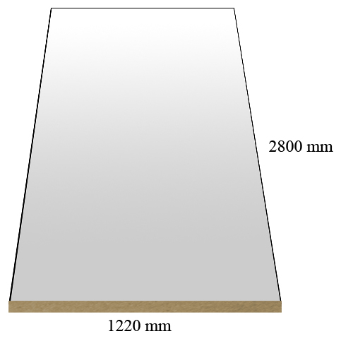 1583 Mirror HG  - PVC coated 18 mm MDF