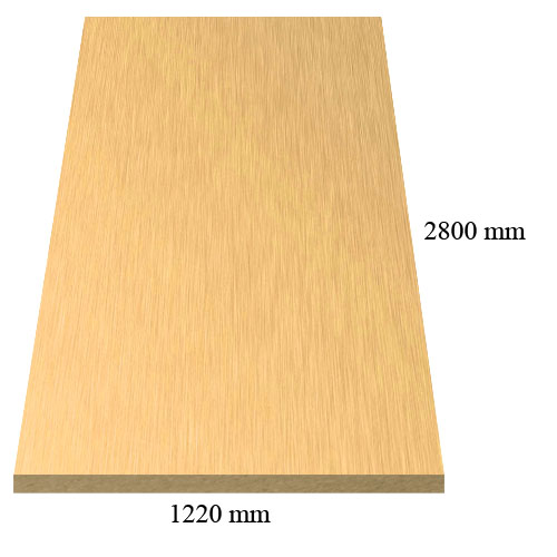 1991 Metallic Gold  high gloss - PVC coated 18 mm MDF