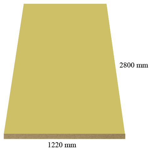 2172 Super matte Yellow - PVC coated 18 mm MDF