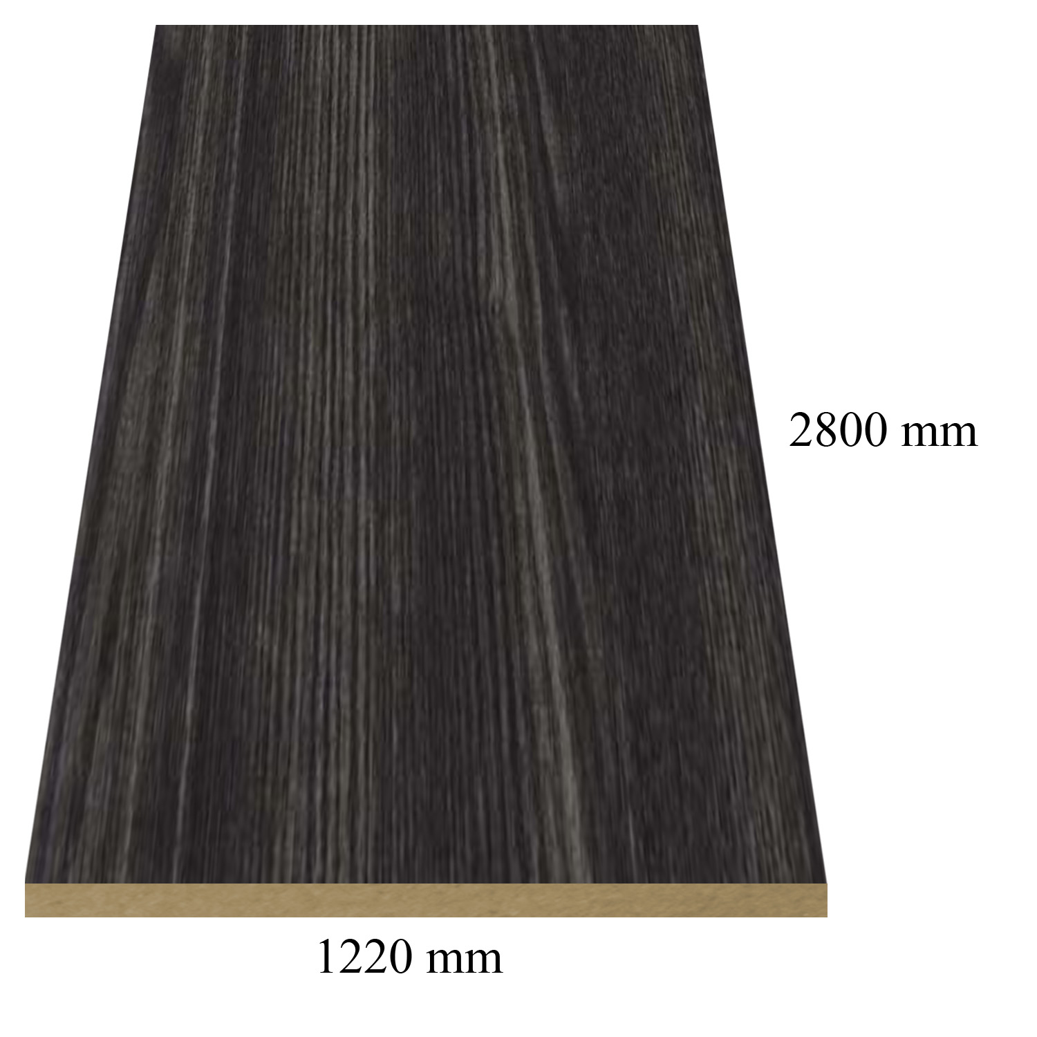 434 /6145 /158 Dark maple high gloss - PVC coated 18 mm MDF