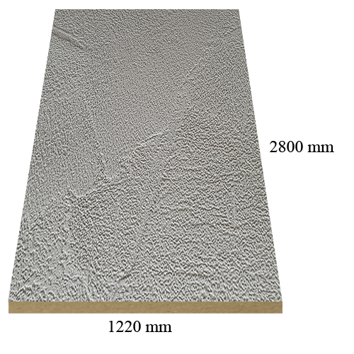 2260 matte Grey Cement - PVC coated 18 mm MDF