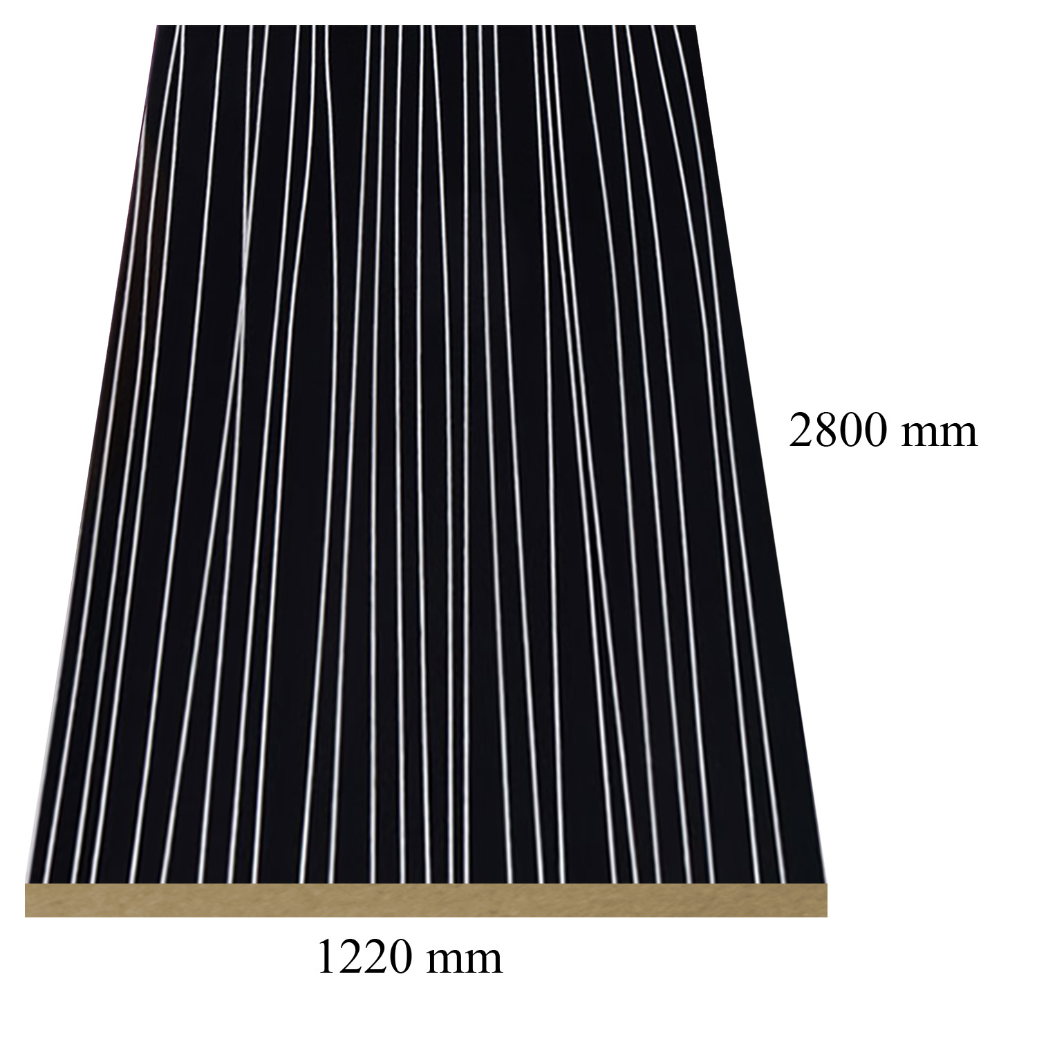 2 — 6150 Stripe Black high gloss - PVC coated 18 mm MDF
