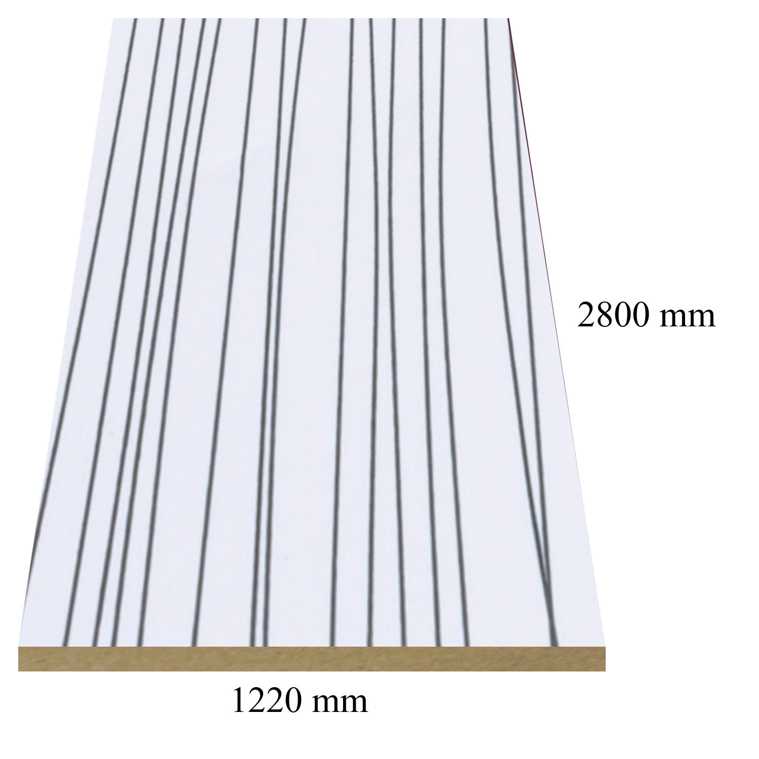 2 — 6151/143  Stripe White high gloss - PVC coated 18 mm MDF
