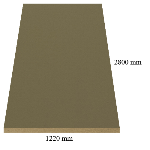 1 - 305 Velvet grey coffe - super matte - PVC coated 18 mm MDF