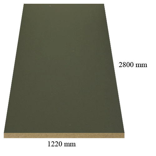 1 - 307 Velvet anthracite - super matte - PVC coated 18 mm MDF