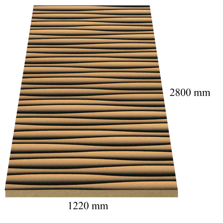 4 – 6176 Златно черни вълни - 18 мм плоча мдф гланц