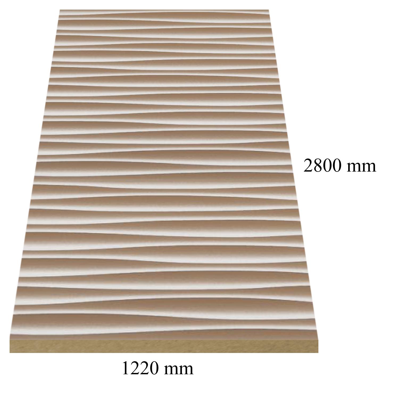 4 – 6177 Златно бели вълни - 18 мм плоча мдф гланц