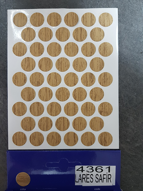 4361 Stone oak – Self adhesive covers ø14 mm