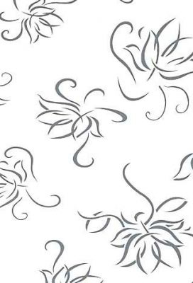 452 /6153 Flower white high gloss - PVC coated 18 mm MDF