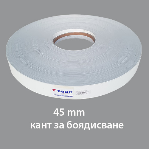 2000 Paintable Melamine edge band 45mm - Тесе