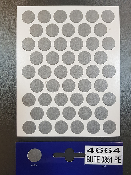 4664 Metallika – Self adhesive covers ø14 mm