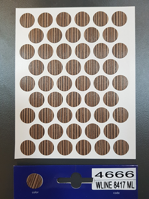 4666 Rigoletto copper – Self adhesive covers ø14 mm