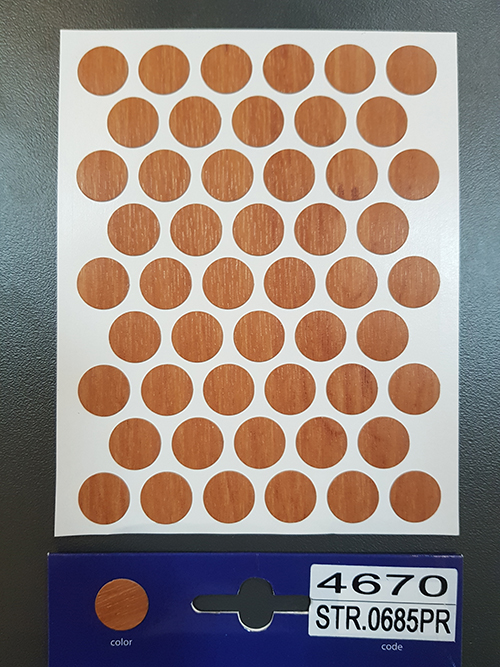 4670 Red alder – Self adhesive covers ø14 mm