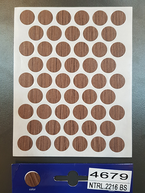 4679 Chamonix oak – Self adhesive covers ø14 mm