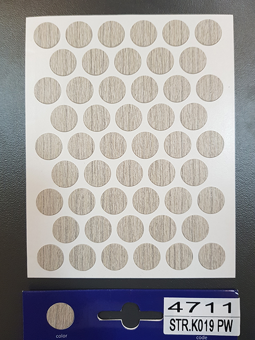 4711 Silver liberty elm – Self adhesive covers ø14 mm