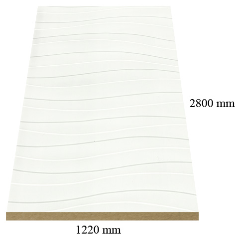474 /967 White wave gloss - PVC coated 18 mm MDF