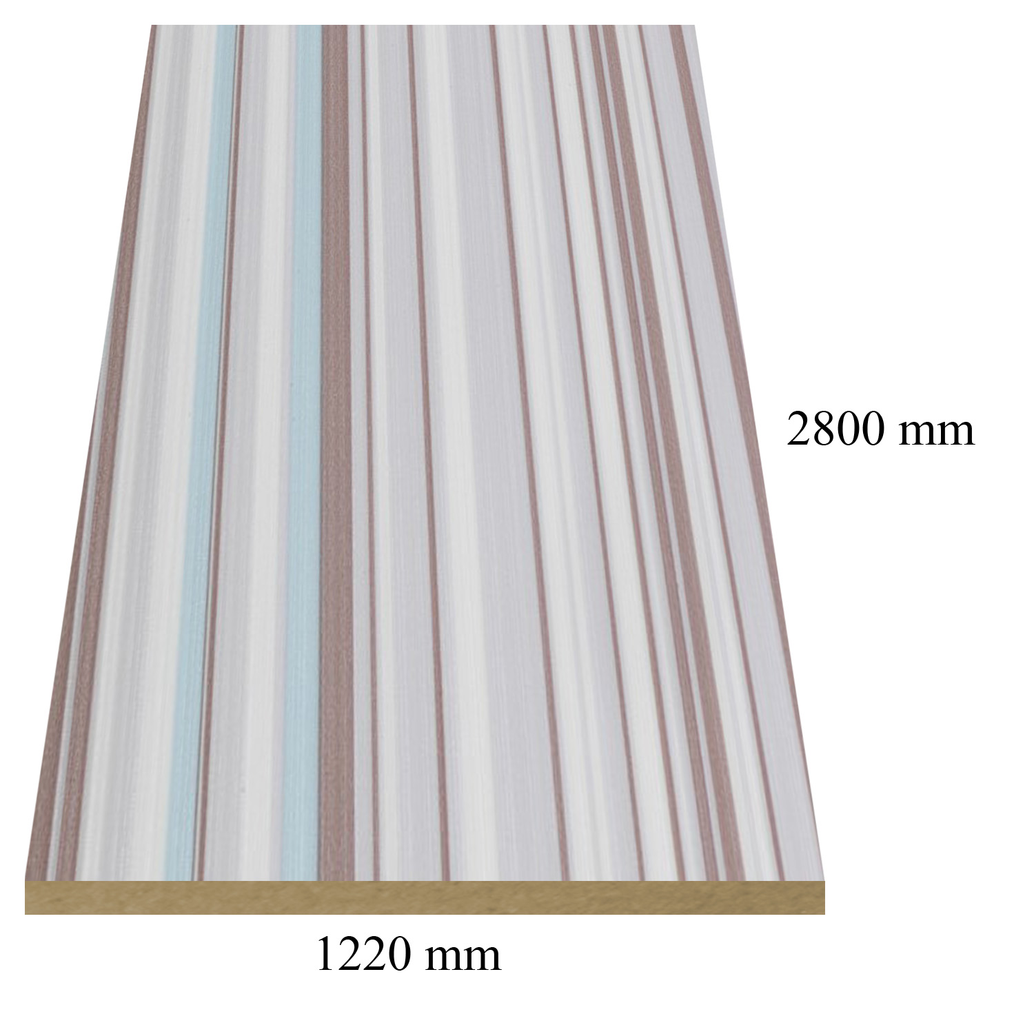 716 Kaleidos high gloss - PVC coated 18 mm MDF