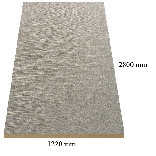 516 new Inox - PVC coated 18 mm MDF