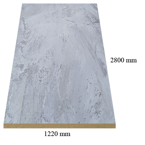 4 – 529 White marble high gloss - PVC coated 18 mm MDF
