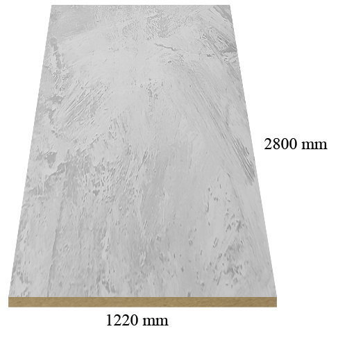 529 White marble high gloss - PVC coated 18 mm MDF