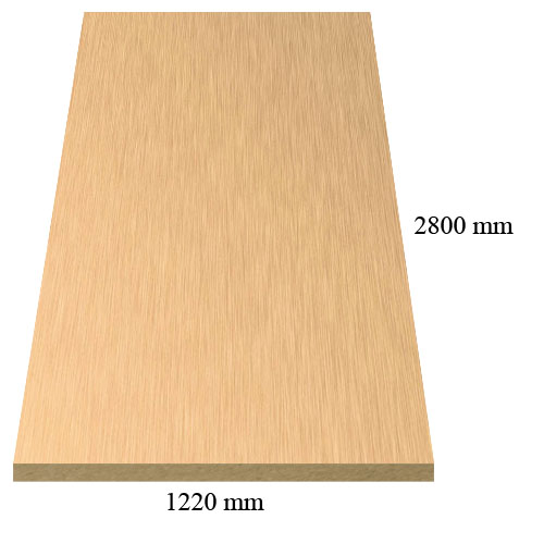 532 Innox Gold - PVC coated 18 mm MDF