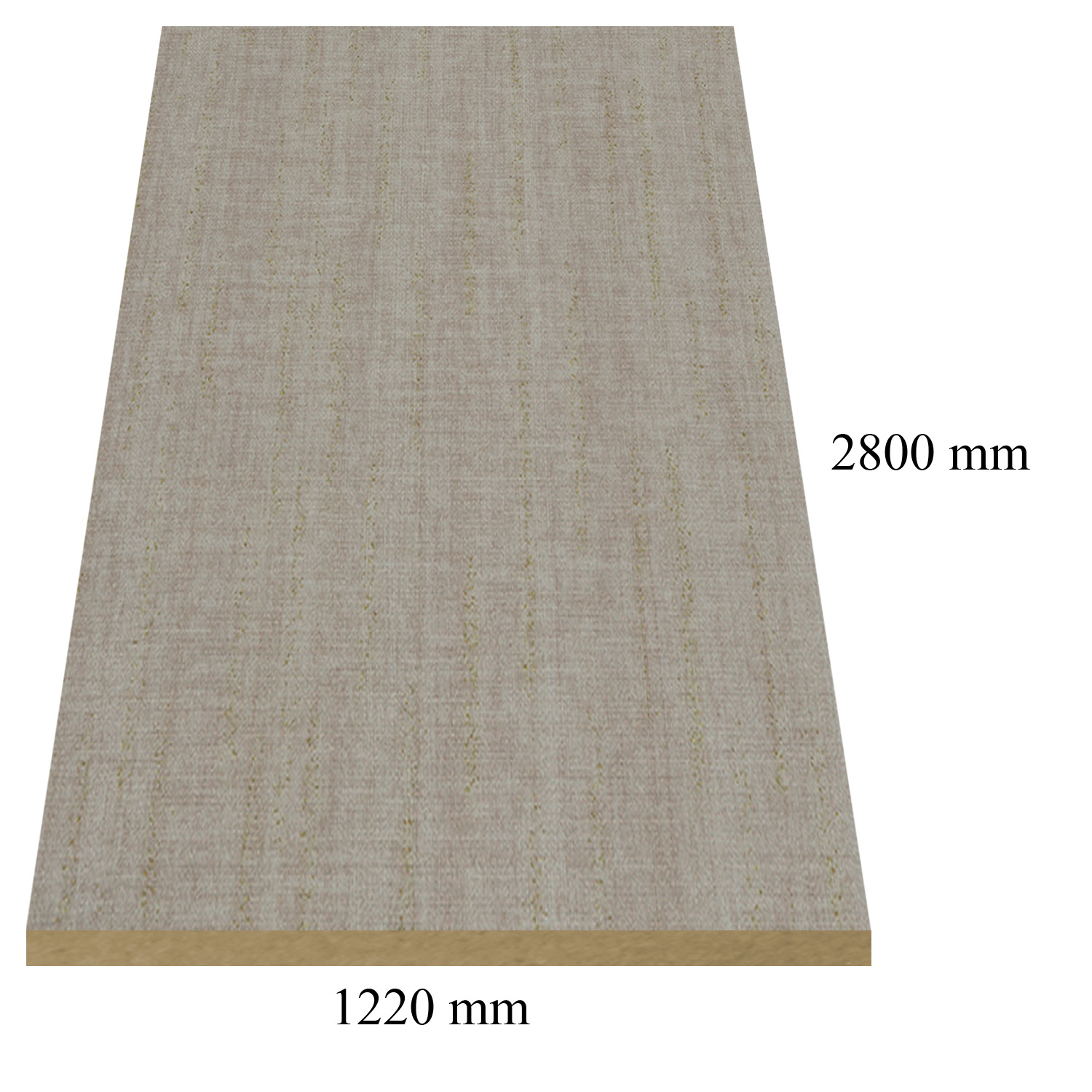 1164 Light linen high gloss - PVC coated 18 mm MDF