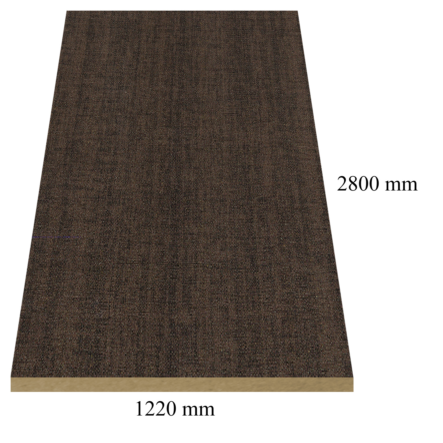 1165 Dark linen high gloss - PVC coated 18 mm MDF