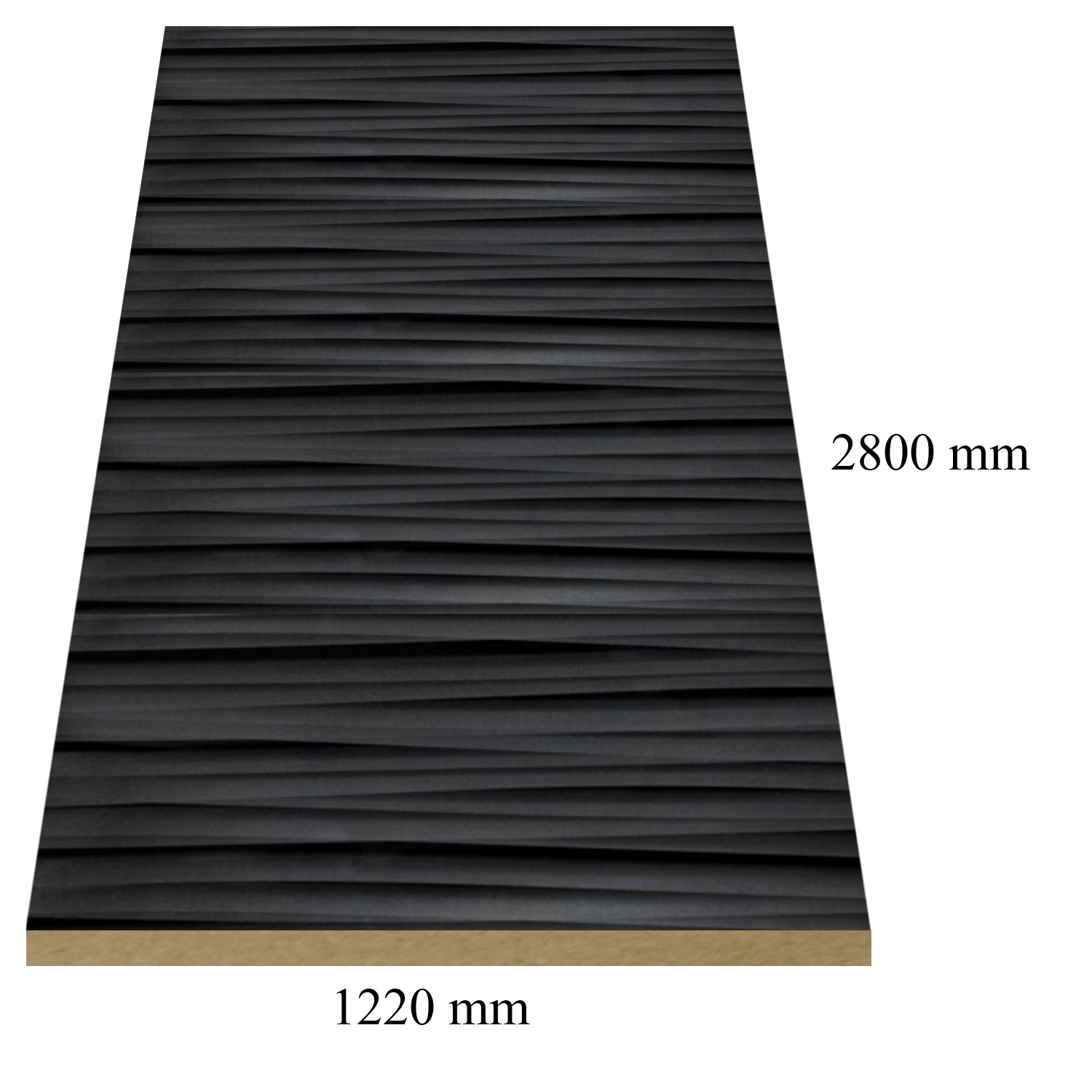 472 /6301 Sahara black high gloss - PVC coated 18 mm MDF