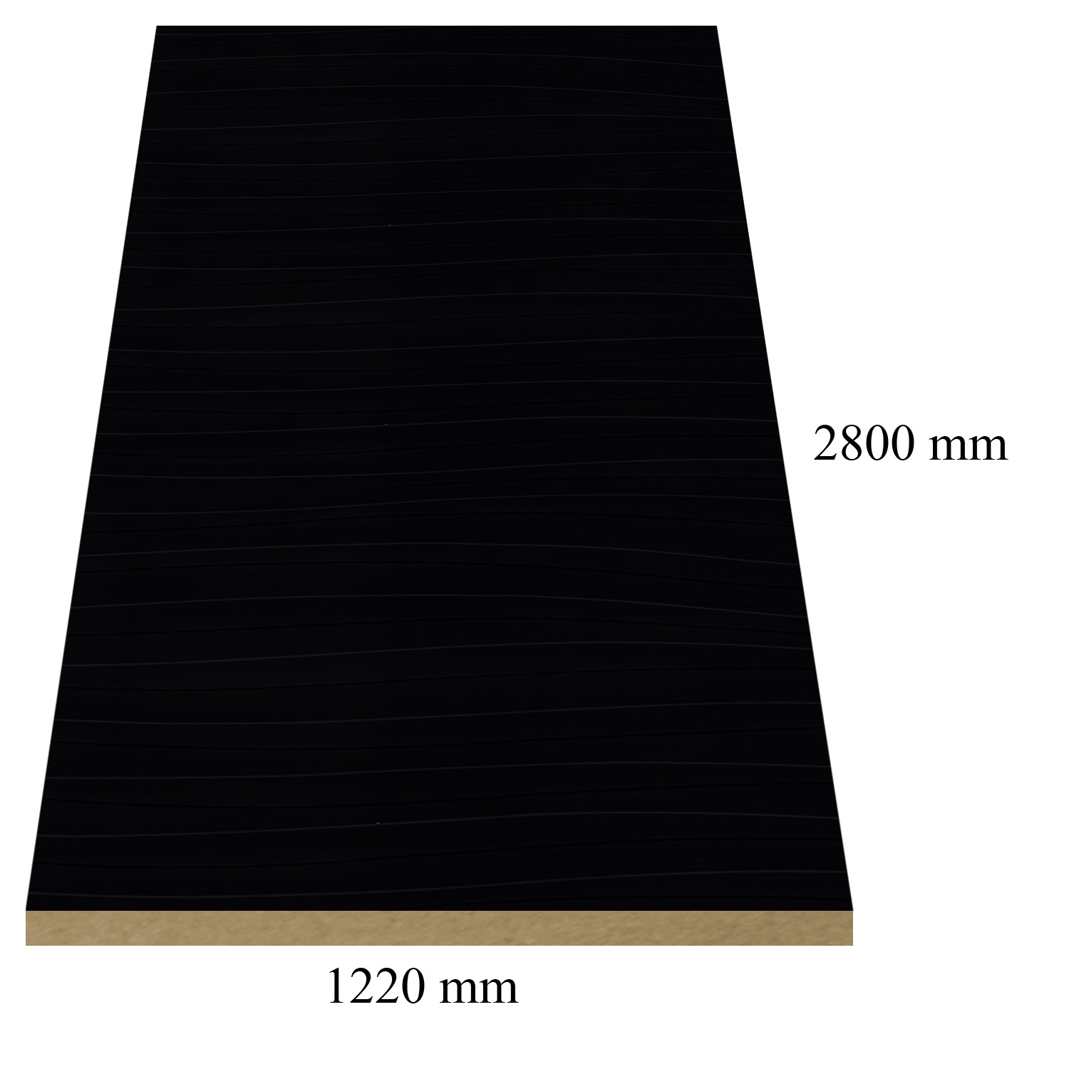 2 - 968/475 Black wave gloss - PVC coated 18 mm MDF