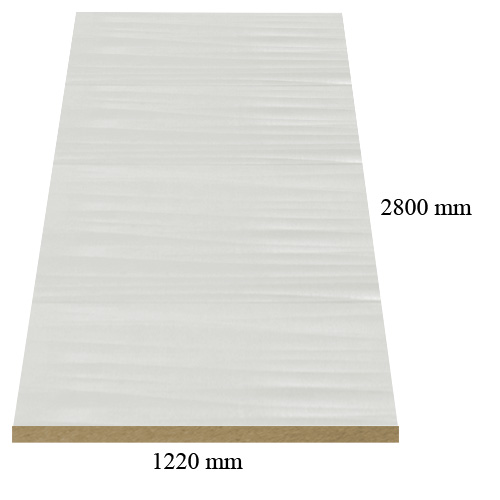 1572 /471 /6300 Sahara white high gloss - PVC coated 18 mm MDF