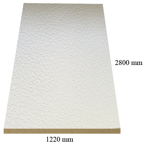 7081 Leather Beige matte - PVC coated 18 mm MDF