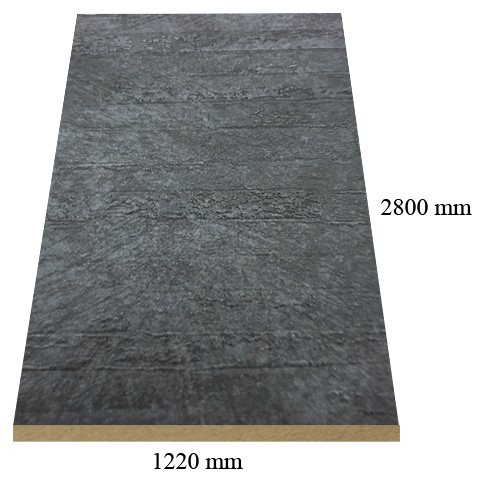 7087 Stone Gray matte - PVC coated 18 mm MDF