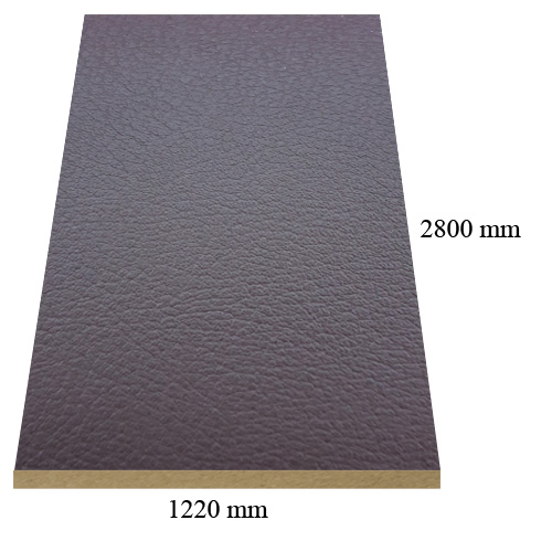 7089 Leather Brown matte - PVC coated 18 mm MDF
