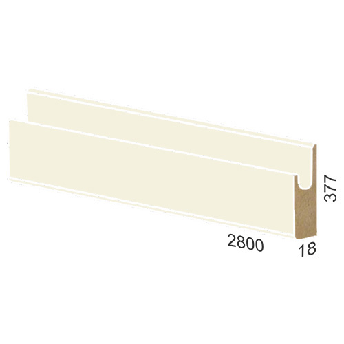 377 mm MDF panel dug handle – 845 high gloss Bianco