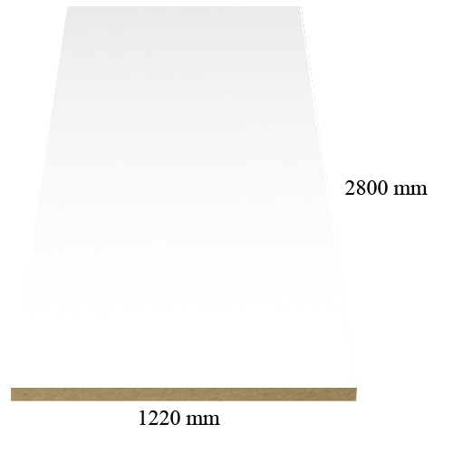 1236 White – High Gloss Acrylic coated 18mm MDF