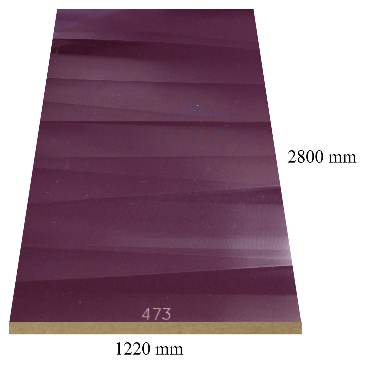 473 Sahara damson high gloss - PVC coated 18 mm MDF